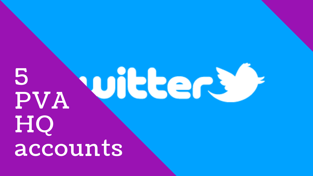 5 Twitter PVA Profiled HQ Accounts
