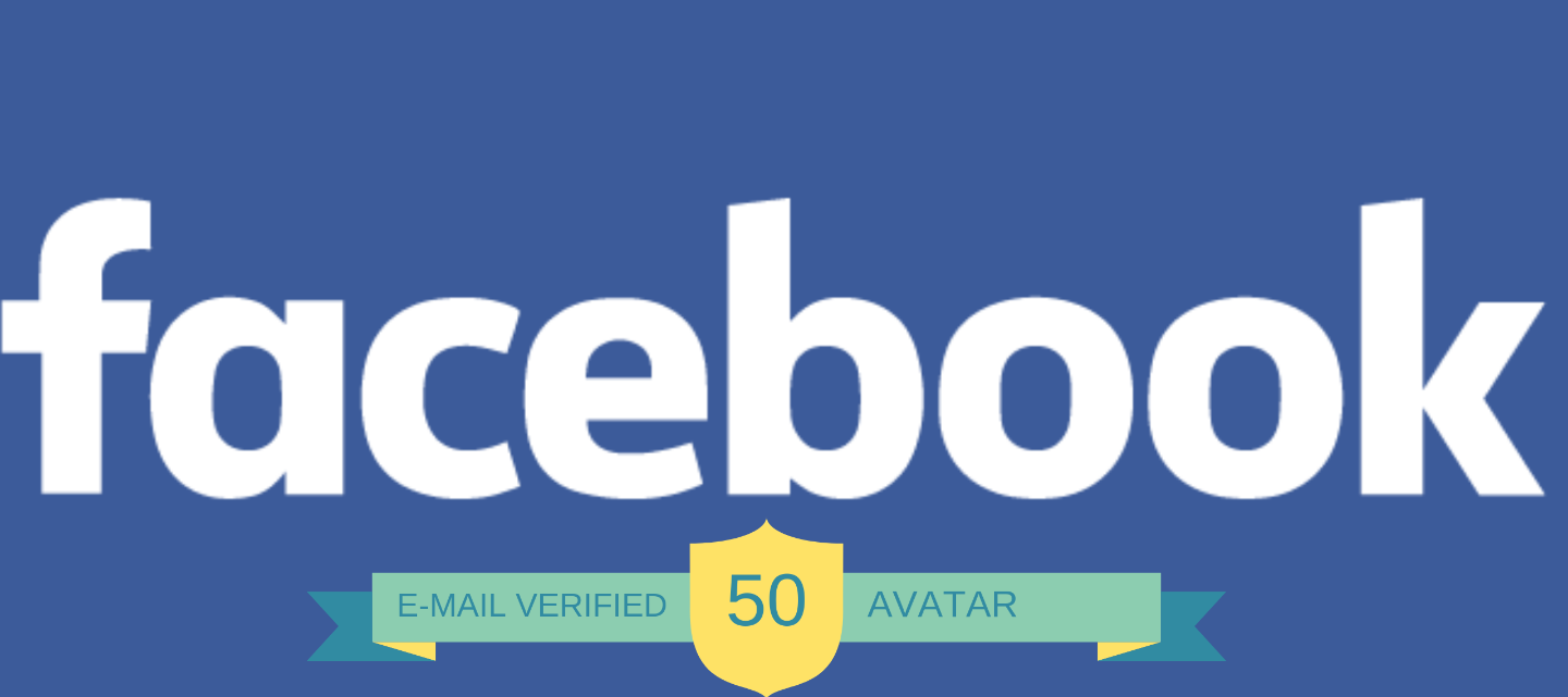 50 Facebook.com Account with Avatar not PVA