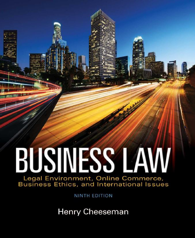 Business Law 9th Edition by Cheeseman