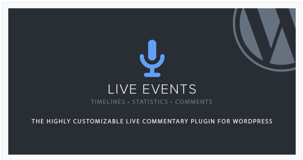 Live Events - live blogging plugin