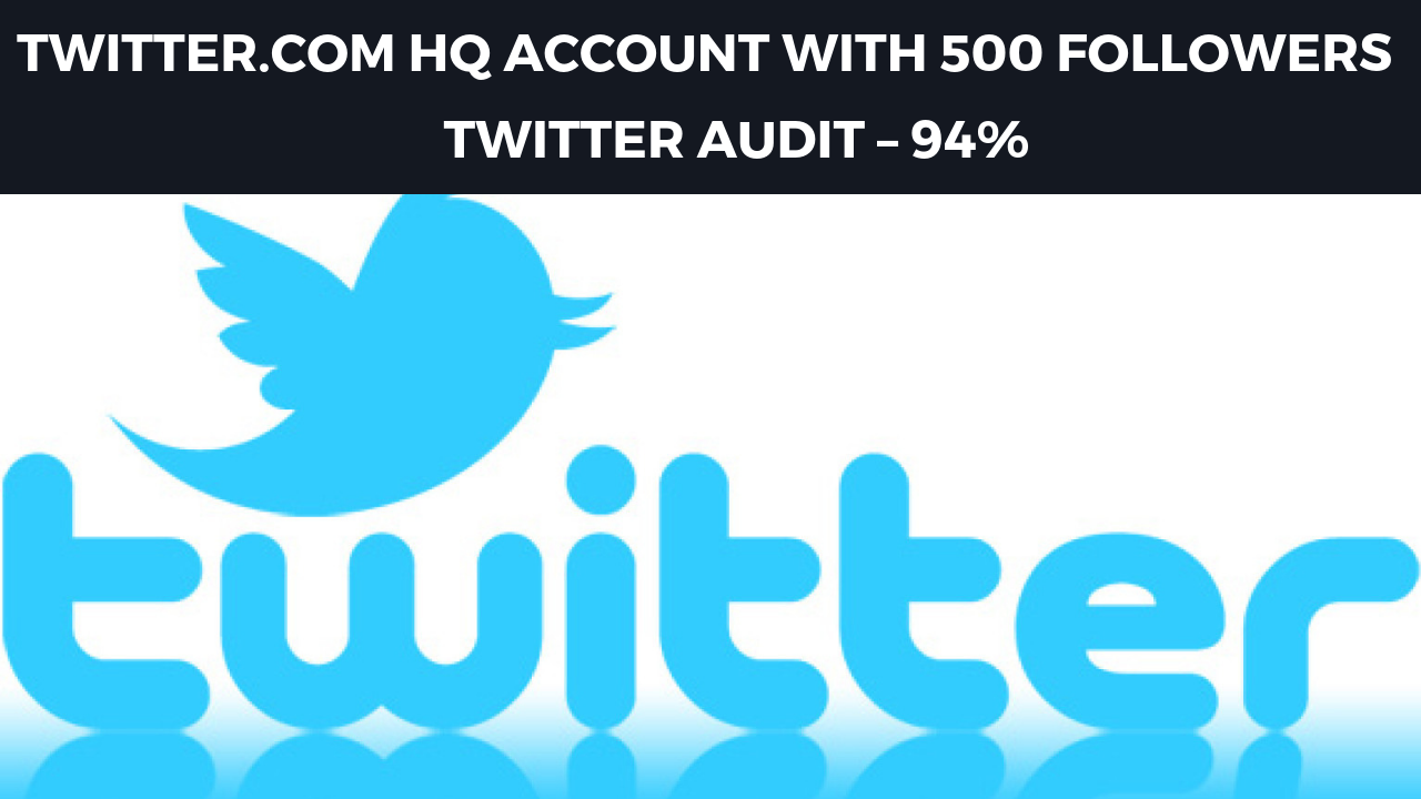 1 Twitter account with 500 followers – tw audit - 94%
