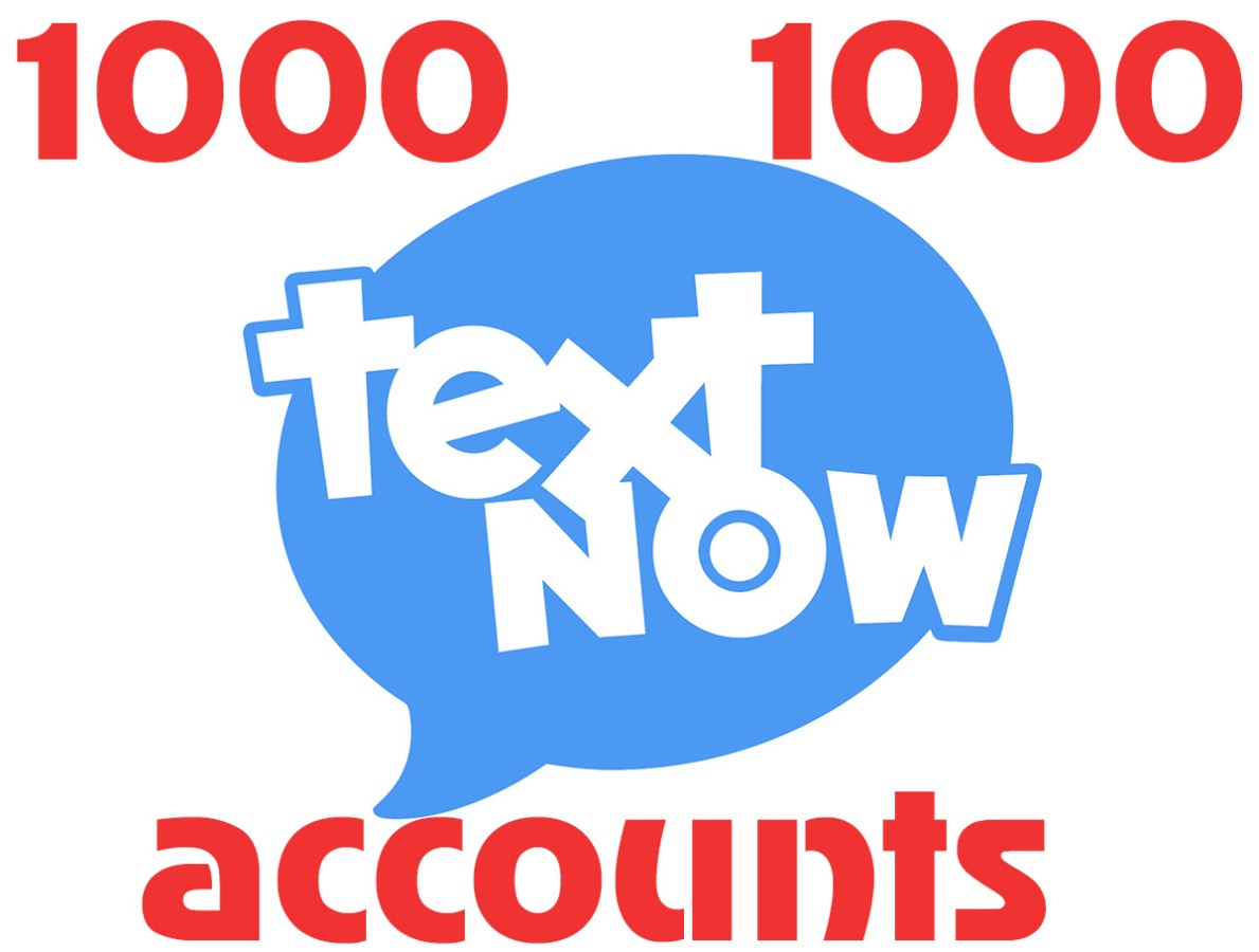 1000 textnow.com accounts – USA virtual number