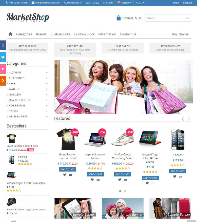 Online Shop/Store Ecommerce Website + Multi Vendor