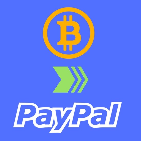 $55.00 Bitcoin to PayPal Transfers 110% Conversion Rate