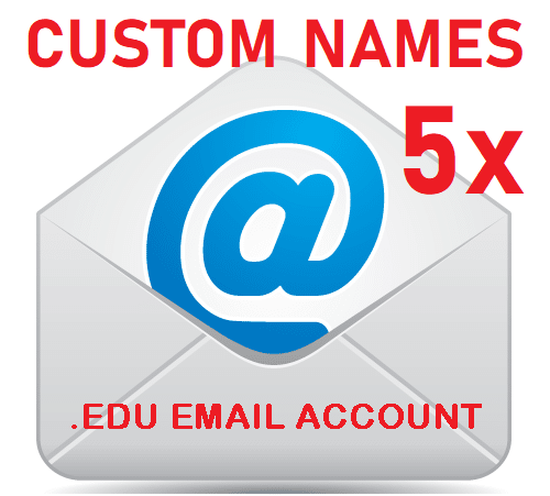 5x Customized Student Emails – Custom Name School EDU