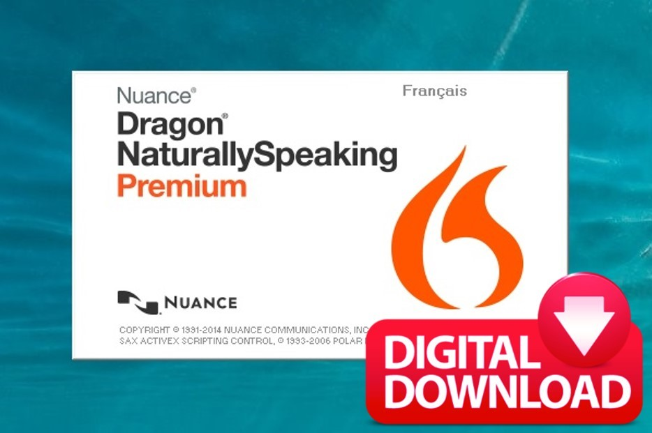 NUANCE DRAGON NATURALLY SPEAKING PREMIUM 13.0 FRENCH