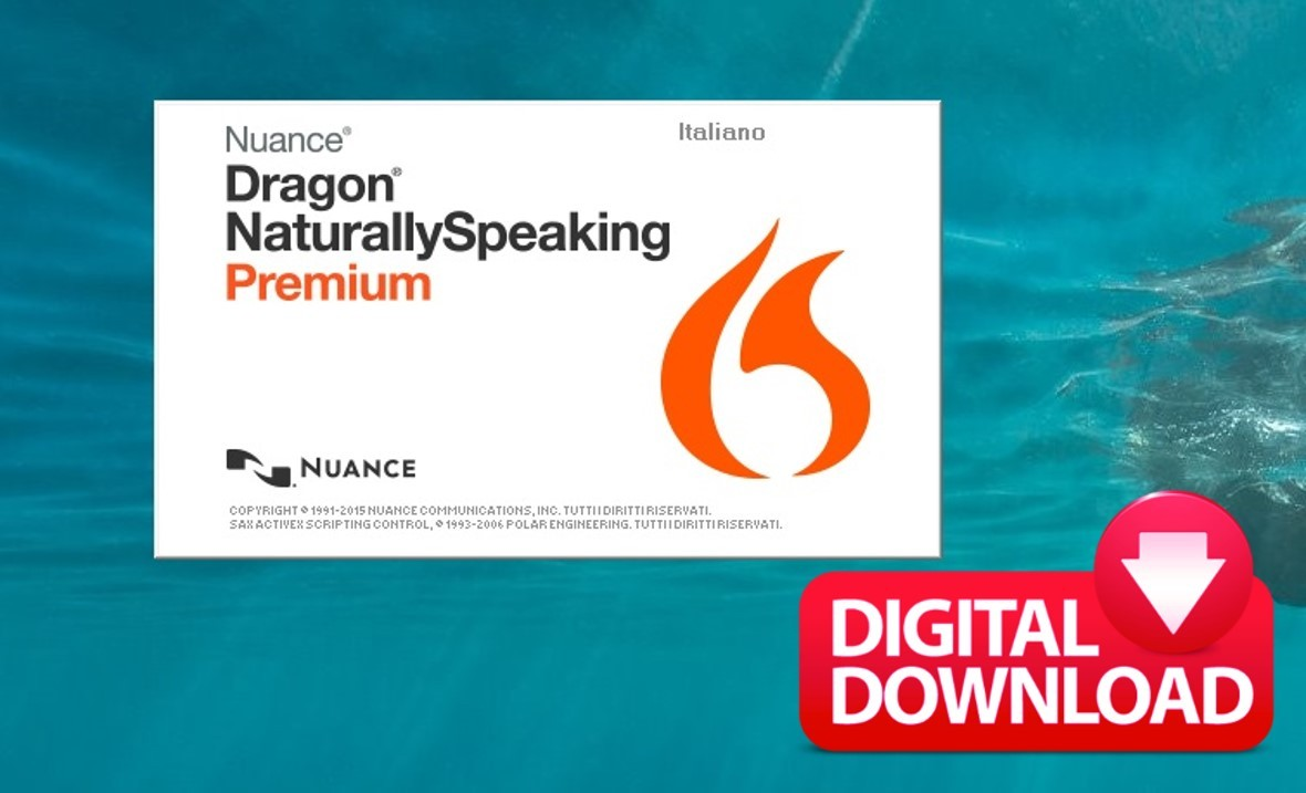 NUANCE DRAGON NATURALLY SPEAKING PREMIUM 13.0 ITALIAN
