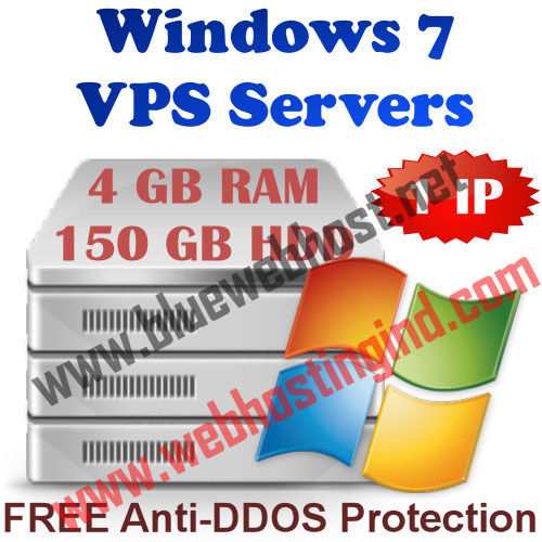 Windows 7 VPS Server – 4 GB RAM + 150 GB HDD + DDOS