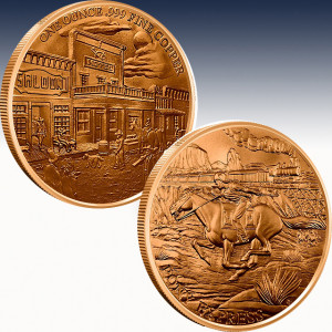 1 oz Copper Round | Prospector Series - Pony Express