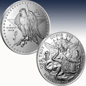 1 oz Silver Round | Texas Commemorative