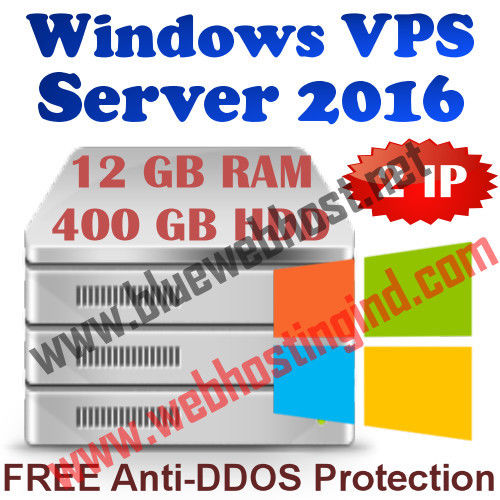 Windows 2016 VPS 12GB RAM + 400GB HDD + DDOS