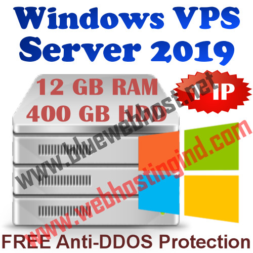 Windows 2019 VPS 12GB RAM +400GB HDD+UNMETERED TRAFFIC