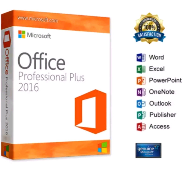 MICROSOFT OFFICE 2016 PRO PLUS  x 5 DEVICES