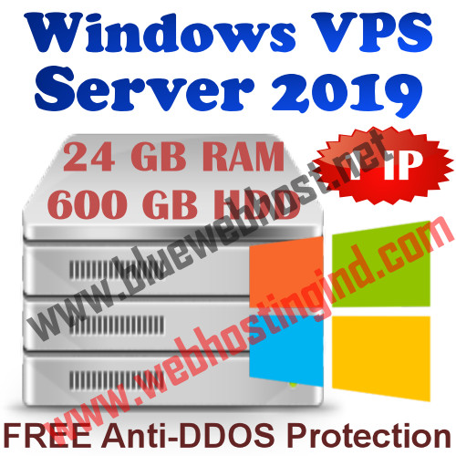 Windows 2019 VPS 24GB RAM +600GB HDD+UNMETERED TRAFFIC