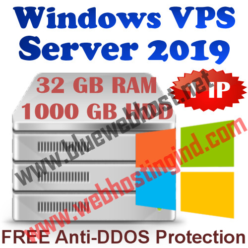 Windows 2019 VPS 32GB RAM +1000GB HDD+UNMETERED TRAFFIC