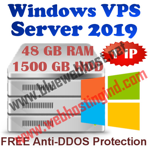 Windows 2019 VPS 48GB RAM +1500GB HDD+UNMETERED TRAFFIC