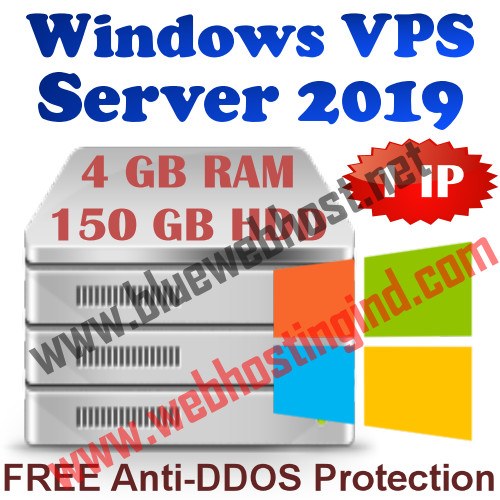 Windows 2019 VPS 4GB RAM +150GB HDD+UNMETERED TRAFFIC