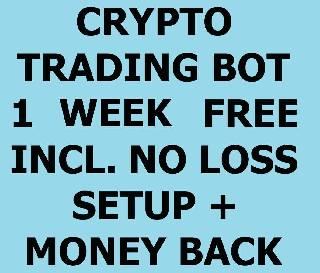 Crypto Trading Bot account incl. no loss setup