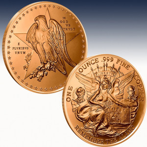 1 oz Copper Round | Texas Commemorative