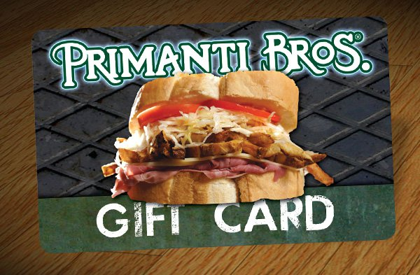$50 Primanti Bros Gift Card INSTANT DELIVERY