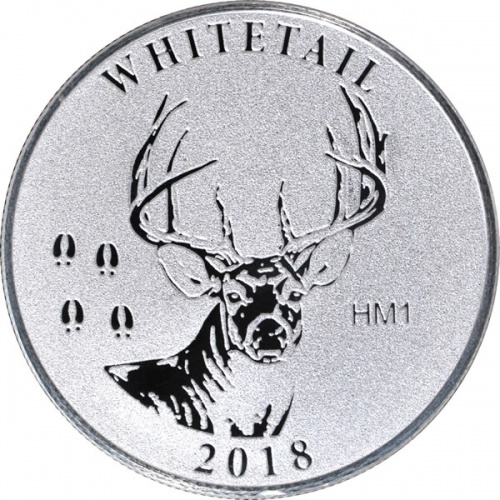 2018 1 oz Whitetail Deer NRA Silver Round