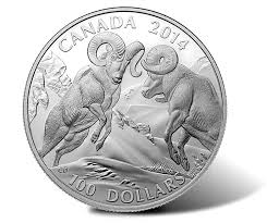 $100 for $100 Fine Silver Coin Bighorn Sheep (2014)