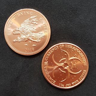 Zombucks® Dying Eagle 1 oz Copper Round