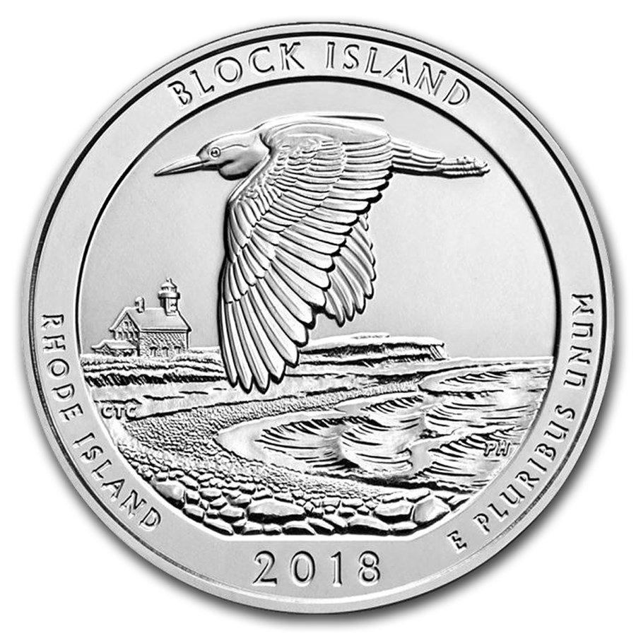 2018 5 oz Silver ATB Block Island National Wildlife Ref