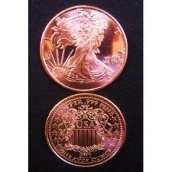 1 OZ Walking Liberty Copper Round
