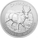 2013 Canadian Silver Pronghorn Antelope 1 oz .9999 F...