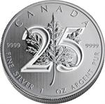 2013 SILVER MAPLE LEAF -25TH ANNIVERSARY COIN