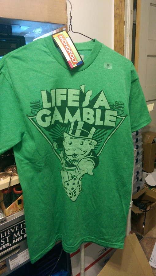 Life's A Gamble Monopoly T Shirt Size Medium