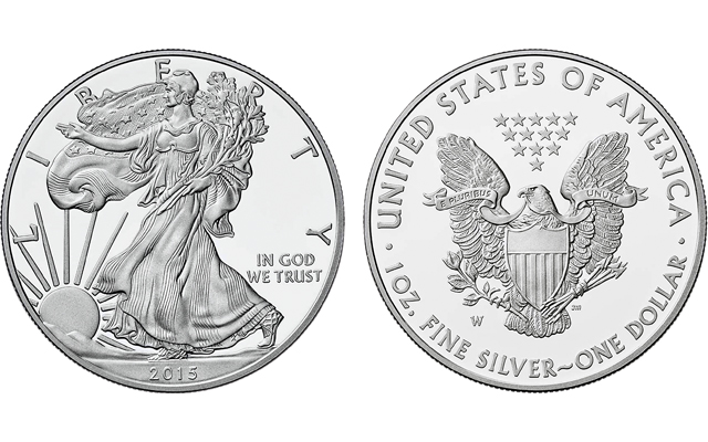 2015 1 Troy Oz .999 Silver American Eagle $1 Coin