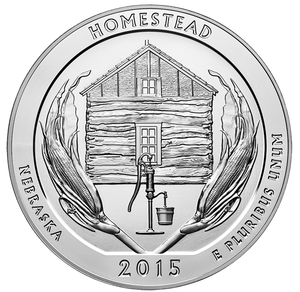 2015 Homestead National Monument 5 oz Silver ATB
