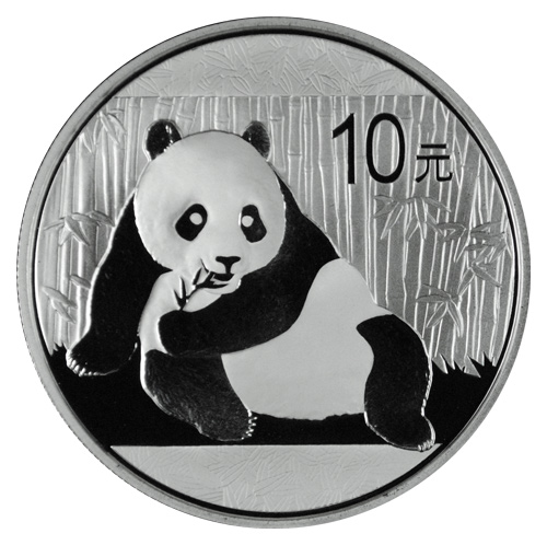 2015 China 1 Oz .999 Silver Panda 10 Yuan Coin