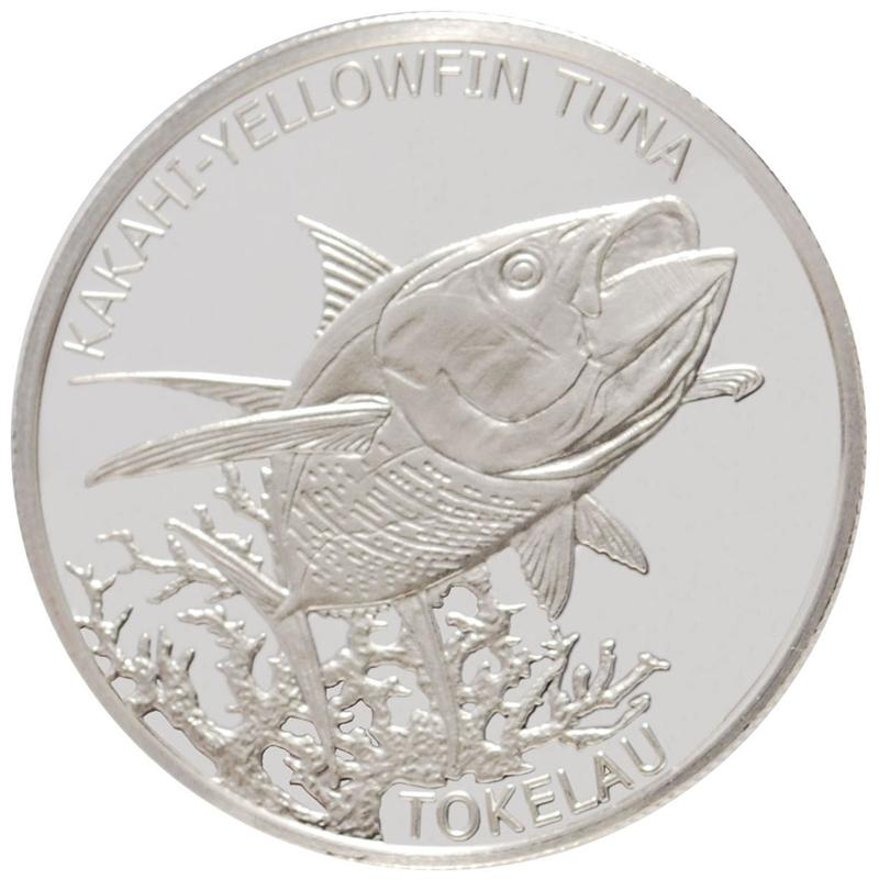 2014 Tokelau 1/2 oz. Silver Kakahi Yellowfin Tuna Coin