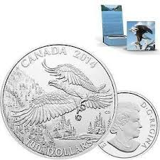 $100 for $100 Fine Silver Coin – Bald Eagle (2014)
