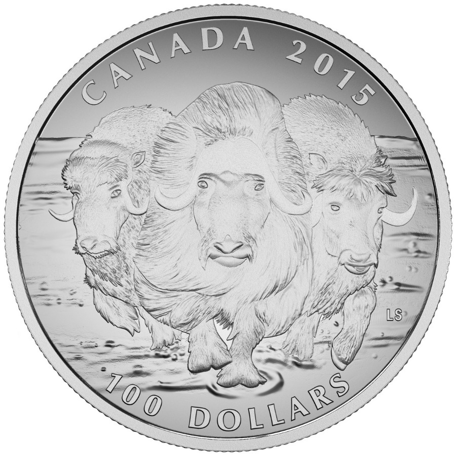 $100 for $100 Fine Silver Coin - Muskox (2015)