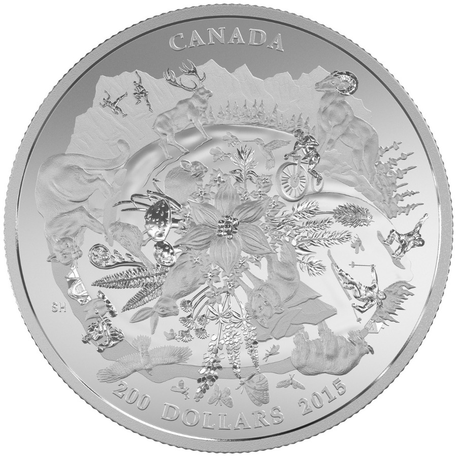 $200 for $200 Fine Silver Coin Canada's Rugged Mountain