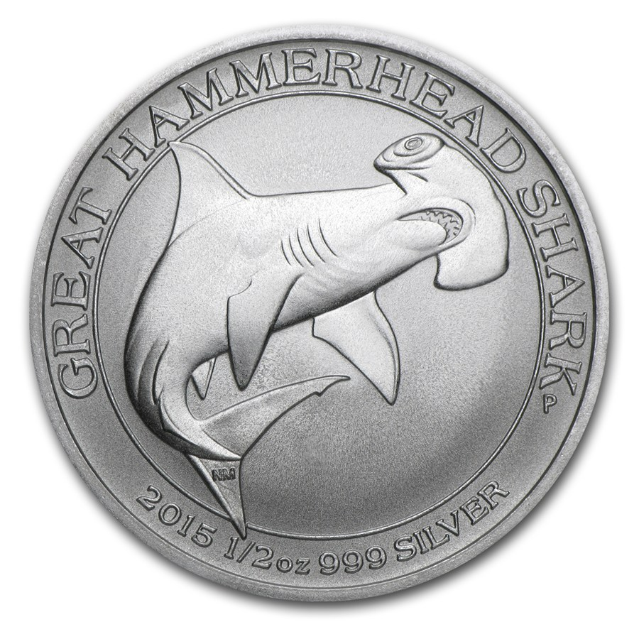 2015 Australia 1/2 oz Silver Great Hammerhead Shark - S