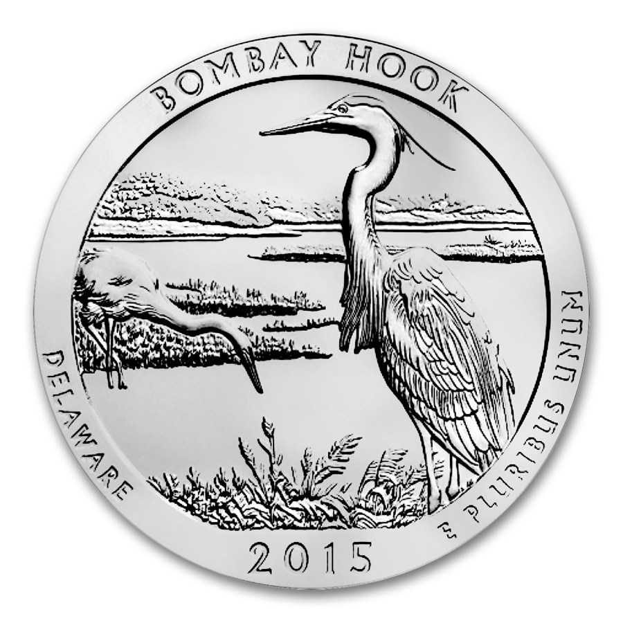 2015 Bombay Hook National Wildlife Refuge 5 oz Silver A