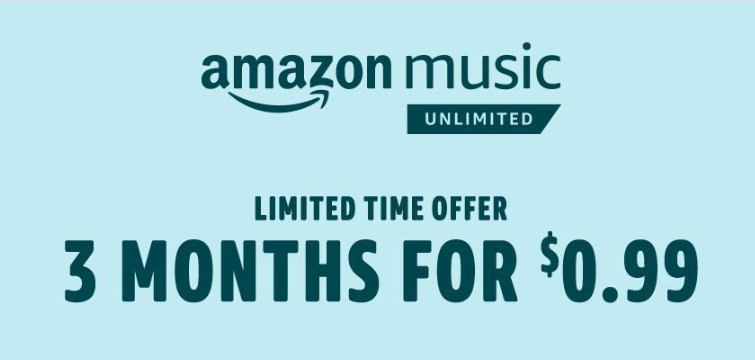 x2 Amazon Music Unlimited |  Music unlimited 3 month