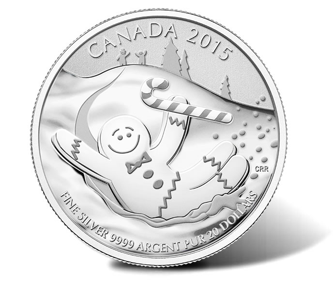 2015 $20 for $20 Fine Silver Coin – Gingerbread Man