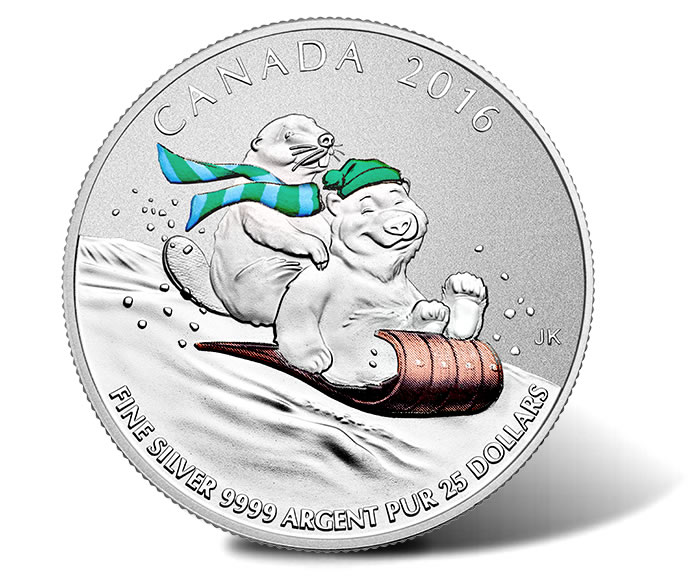 2015 $25 for $25 Fine Silver Coin – Winter Fun