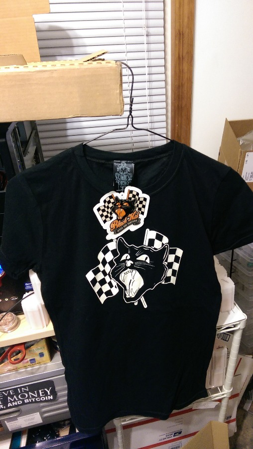 Black Kat Kustoms T Shirt Size Medium