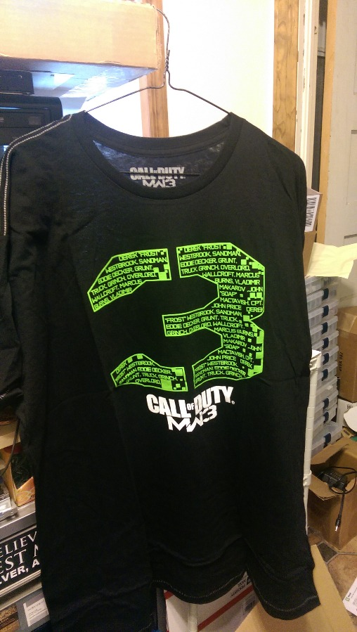 Call Of Duty MW3 T Shirt Black.  Size is XXLarge
