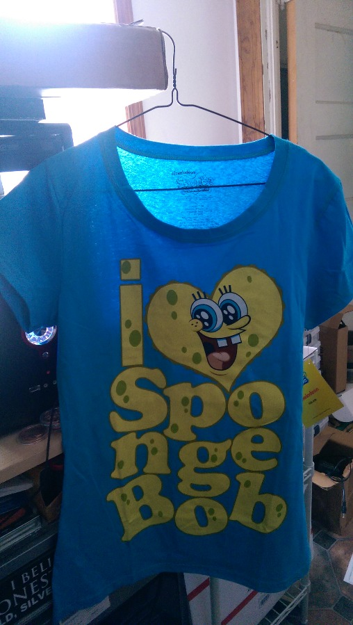 I love SpongeBob T Shirt Size Large