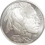 1 Oz Silver Round Indian Head Buffalo Design