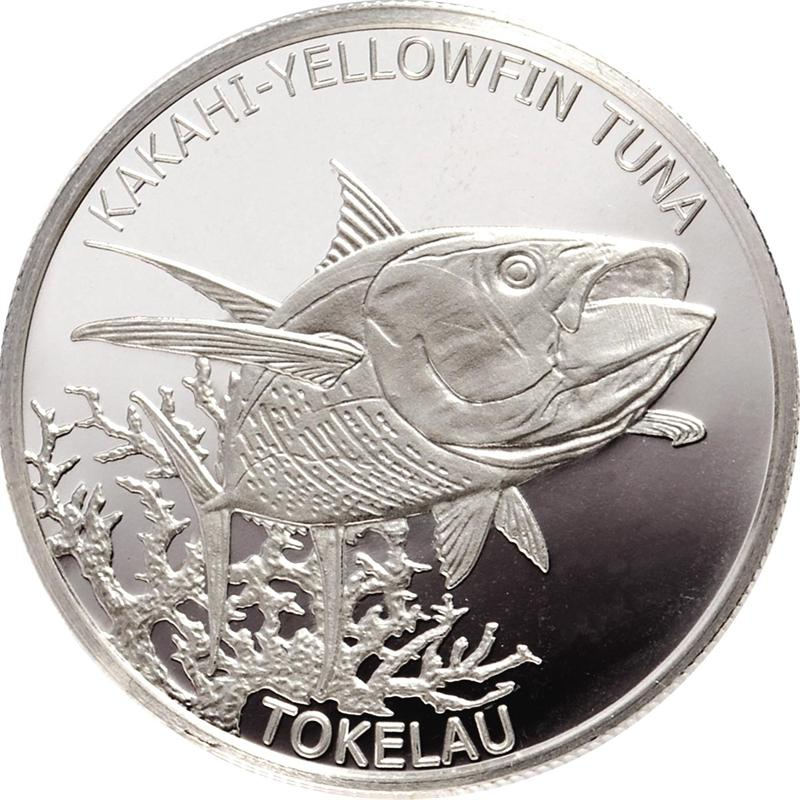 2014 Tokelau 1 oz. Silver Kakahi Yellowfin Tuna Coin