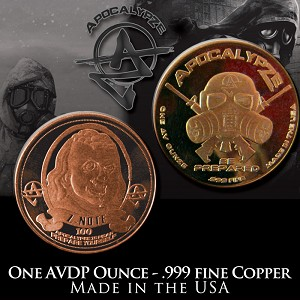 """ Ben Franklin Z-Note "" 1 Ounce Copper Round Bul..."